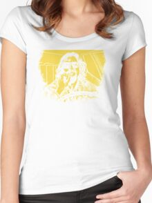 Big Lebowski Yellow 1 Women's Fitted Scoop T-Shirt
