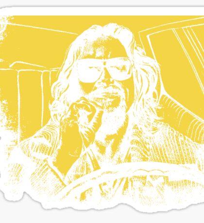 Big Lebowski Yellow 1 Sticker