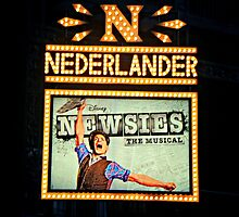 The Newsies Broadway Marquee by emjorgenson