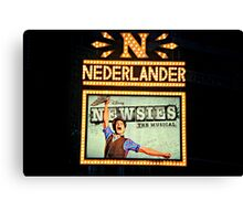 The Newsies Broadway Marquee Canvas Print