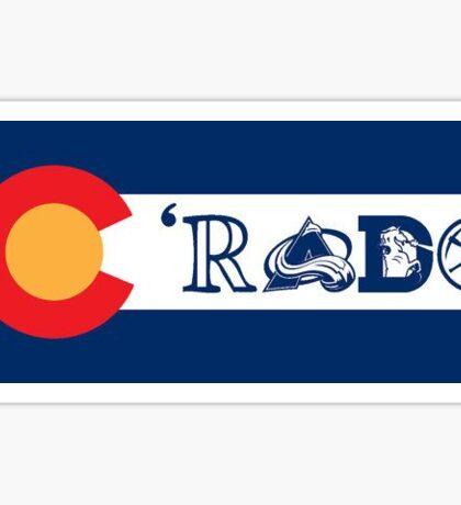 C'rado colorado flag design Sticker
