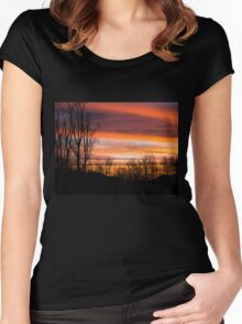 Sunrise Silhouette  Women's Fitted Scoop T-Shirt