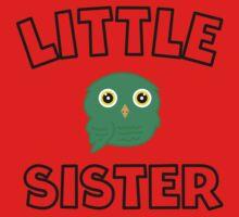 Green Owl Little Sister One Piece - Long Sleeve