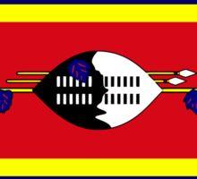 Swazi American Multinational Patriot Flag Series Sticker