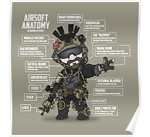 AIRSOFT ANATOMY (white writing) Poster
