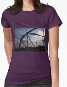 Fury 325 at Carowinds Roller Coaster Womens Fitted T-Shirt