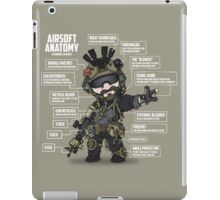 AIRSOFT ANATOMY (white writing) iPad Case/Skin