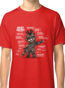 AIRSOFT ANATOMY (white writing) Classic T-Shirt