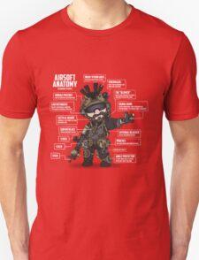 AIRSOFT ANATOMY (white writing) T-Shirt