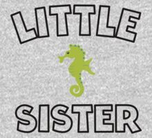Seahorse Little Sister One Piece - Long Sleeve