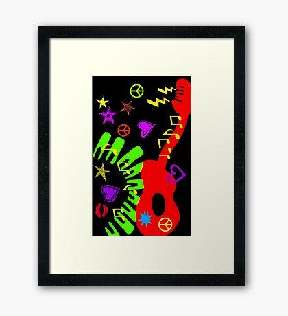 MUSIC & LOVE Framed Print