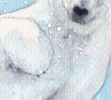 Polar bear underwater Sticker