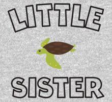 Sea Turtle Little Sister Kids Tee
