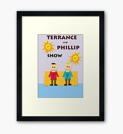 Terrance And Phillip Show Framed Print