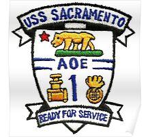 AOE-1 USS Sacramento Poster