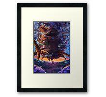 Sunset on Howl's Moving Castle  Framed Print