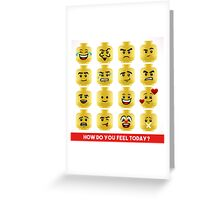 Toy Block Emoji Games Isometric Greeting Card