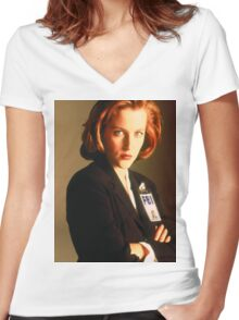 Dana Scully Women's Fitted V-Neck T-Shirt