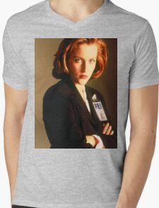 Dana Scully Mens V-Neck T-Shirt
