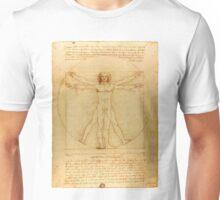 Leonardo Da Vinci Vitruvian Man draw Unisex T-Shirt
