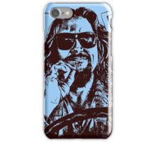 Big Lebowski Blue 1 iPhone Case/Skin