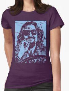 Big Lebowski Blue 1 Womens Fitted T-Shirt
