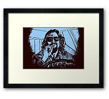Big Lebowski Blue 1 Framed Print