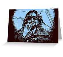 Big Lebowski Blue 1 Greeting Card