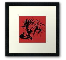 Anger. Framed Print