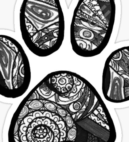 Tumblr Paw Print Sticker