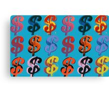 Andy Warhol Dollar Signs $ (1982) Canvas Print