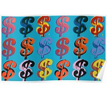 Andy Warhol Dollar Signs $ (1982) Poster