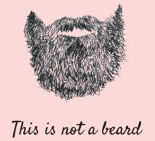 This is not a beard Kids Tee