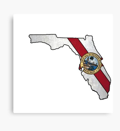 Florida flag shape outline Canvas Print