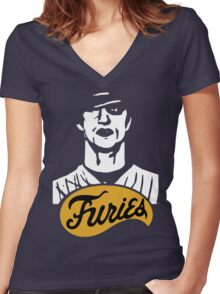 The Warriors Baseball Furies Women's Fitted V-Neck T-Shirt