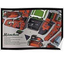 Munich Hand-Drawn Map Poster