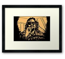 Big lebowski Orange Framed Print