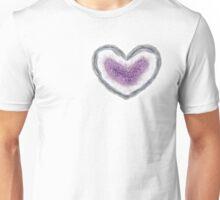 Amethyst Geode Heart Unisex T-Shirt