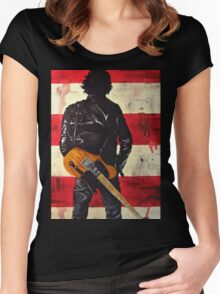 Bruce Springsteen Women's Fitted Scoop T-Shirt