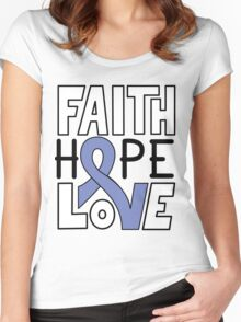 Faith Hope Love - Esophageal Cancer Awareness Women's Fitted Scoop T-Shirt