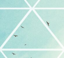 Free Birds in Blue Sky Sticker