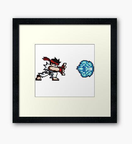 Streetfighter - HADOUKEN ! Framed Print