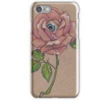 Delicate Long Stem Eye Rose iPhone Case/Skin