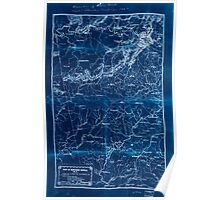 Civil War Maps 1258 Part of northern Georgia no 2 Inverted Poster