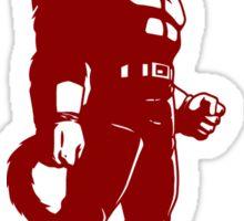 Monkey warrior (red) Sticker