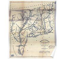 Civil War Maps 1109 Marion District South Carolina Poster