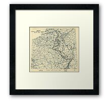 January 6 1945 World War II HQ Twelfth Army Group situation map Framed Print