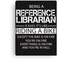 Reference Librarian Canvas Print