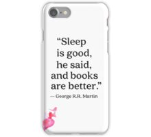 George R.R. Martin quote iPhone Case/Skin