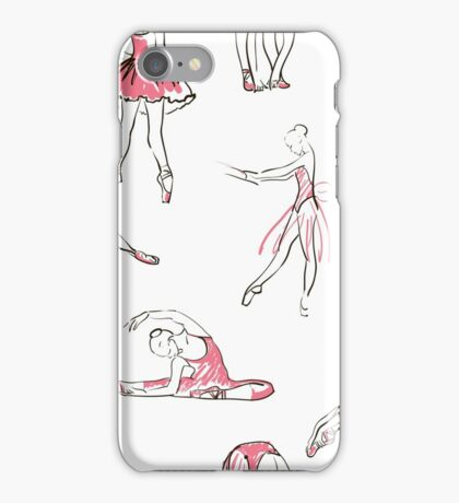 ballerina standing in a pose seamless pattern iPhone Case/Skin